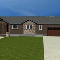 Medium home plan with garage 1170x738