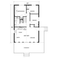 Medium garnett 2 modular 3 bedroom cabin