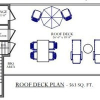 Medium roof deck plan