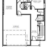 Medium lower floor plan
