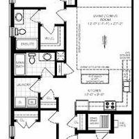 Medium end unit floor plan