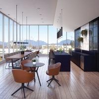 Medium kitchen dining lounge