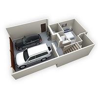 Medium bow collection duplex 3d basement flr plan