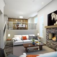 Medium bow collection duplex interior rendering