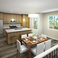 Medium bow collection duplex interior rendering 2