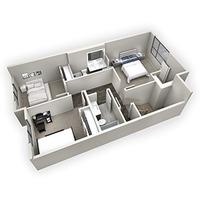 Medium bow collection duplex 3d upper flr plan