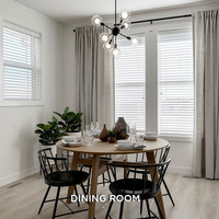 Medium townhome gallery dining