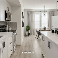 Medium townhome gallery kitchen