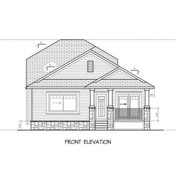 Large square modified bungalow