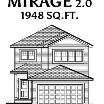 Large square mirage