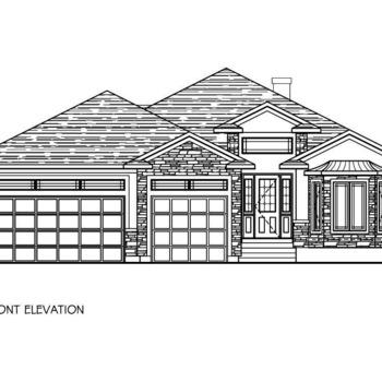 Large square front elevation
