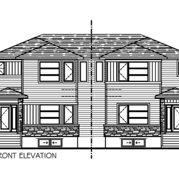 Large square front elevation