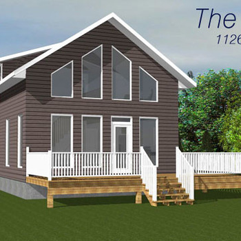 Large square the moonstone 1126sq ft two storey cabin plan 796x364
