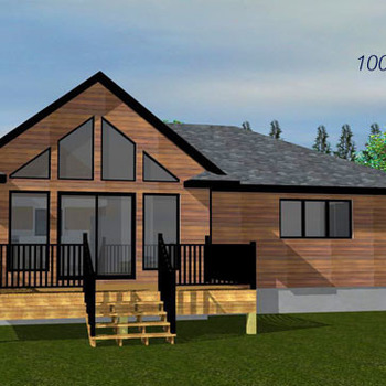 Large square the opal 1005sq ft bungalow cabin plan 796x364