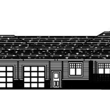 Large square bungalow elevation