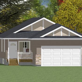 Large square bungalow 2 1003 sq ft ws 01