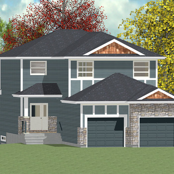 Large square 2 story walkout 1 1981 sq ft ws 01