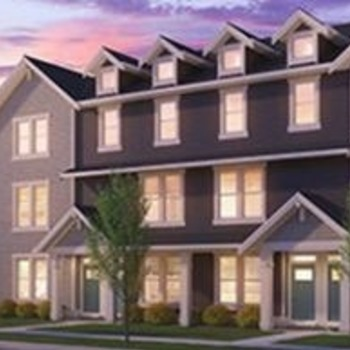 Large square townhomes
