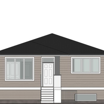 Large square elevation the newberg front
