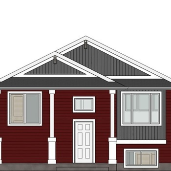 Large square elevation the willowstone front