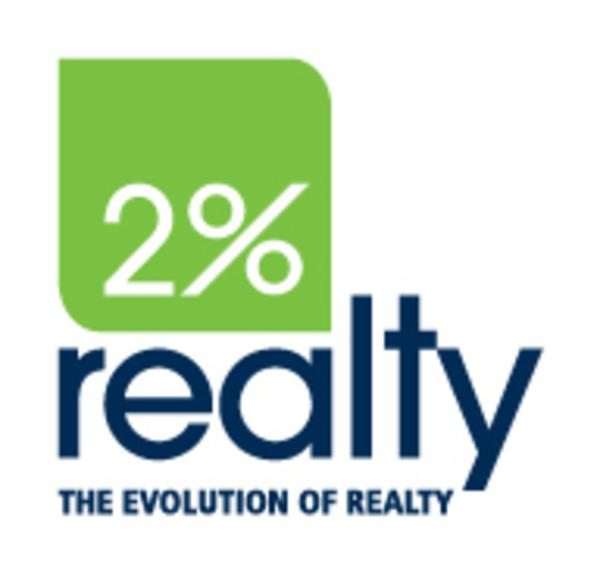 Full 2 percent realty logo tagline pms