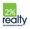 Small 2 percent realty logo tagline pms